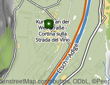 Map: Cortina all'Adige