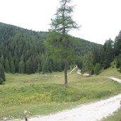 Die Gabelung Wanderweg zum Monte