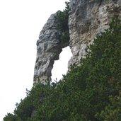Aussichten in der Felswand des Monte Roen