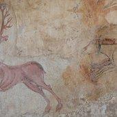 Herrliche Fresken zieren die kleine Kapelle hoch
