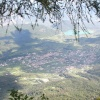 The view from the Penegar is really breathtaking. In the picture the municipality of Caldaro. Foto: RD, © Peer