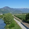 Close to Riva di Sotto, the Adige cycle track passes by, which is also known as Via Claudia Augusta. Foto: AT, © Peer