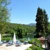 First we proceed on the western lakeside of the little lake of Monticolo. This is also where the lido and the restaurant are located. Foto: AT, © Peer