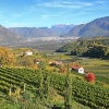 View of Missiano in late autumn, in the background the valley basin of Bolzano. Foto: EMS, © Peer