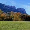 Farbenfroh präsentiert sich der Wald unter dem Gantkofel im Herbst. Foto: EMS, © Peer