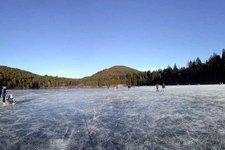 Lago di Monticolo d'inverno